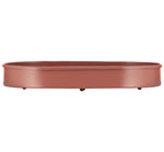 Oval Metal Candle Platter - Brick Dust