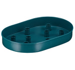 BRITISH COLOUR STANDARD - Oval Metal Candle Platter in Petrol Blue