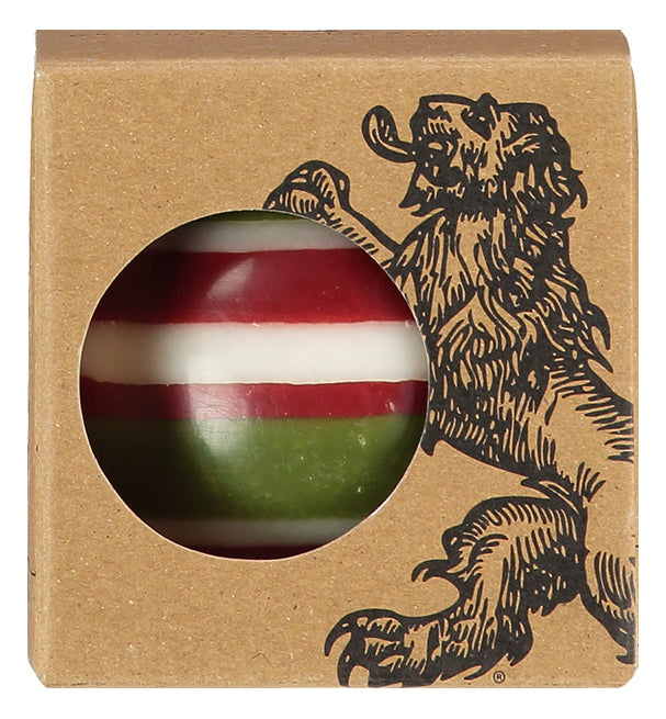 BRITISH COLOUR STANDARD - Large Eco Ball Candle - Guardsman Red, Pearl & Olive