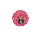 BRITISH COLOUR STANDARD- Silky Jute Coasters in Neyron Rose, set of 4