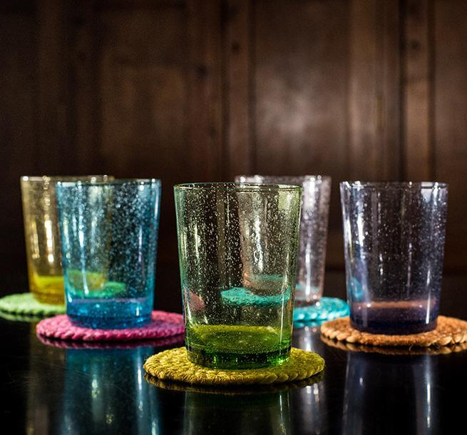 BRITISH COLOUR STANDARD Fair Trade Jute Coasters and Recycled Glasses Collection