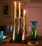 BRITISH COLOUR STANDARD- Tall Derby Blue Candleholder
