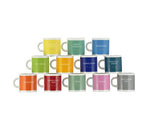 All 12 x British Colour Standard Espresso Cups