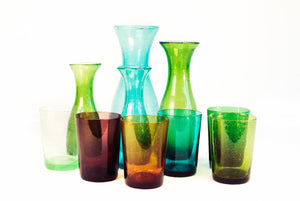 BRITISH COLOUR STANDARD Violet Handmade Glass Tumbler