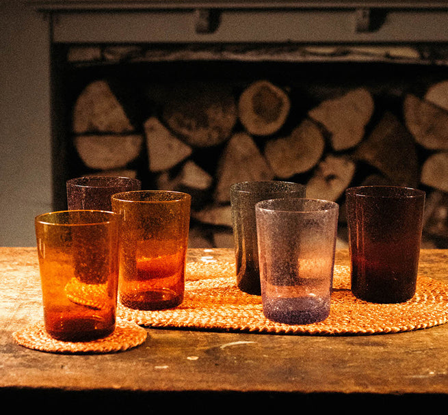 RITISH COLOUR STANDARD Fair Trade Jute Coasters and Recycled Glasses Collection