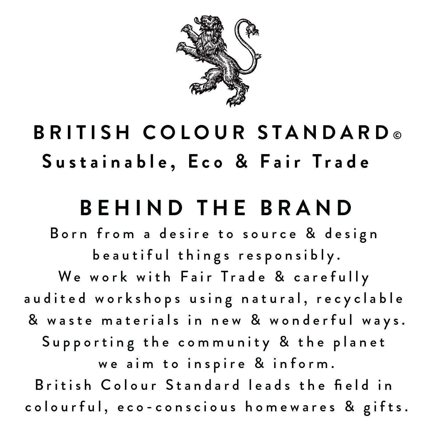 BRITISH COLOUR STANDARD Cotton Tote Bag
