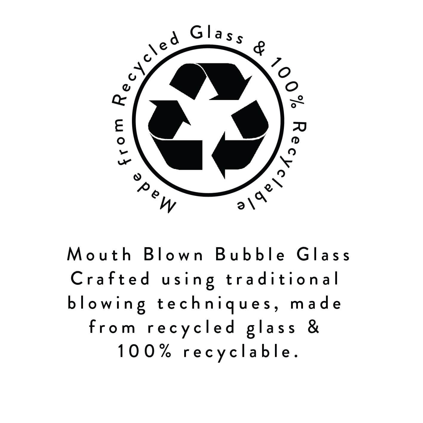 BRITISH COLOUR STANDARD Blown Bubble Glass Collection from recycled glass
