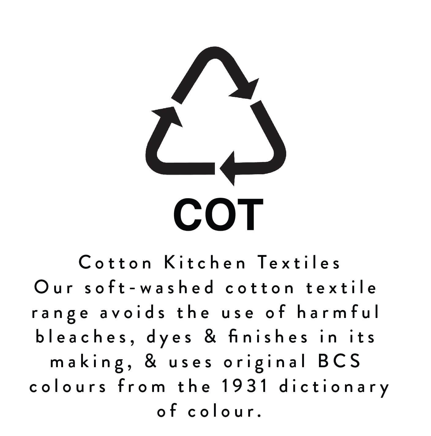 BRITISH COLOUR STANDARD Kitchen Textile Collection Soft Washed Cotton