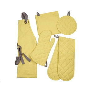BRITISH COLOUR STANDARD -  Barista-Style Kitchen Textile Collection in Tuscan Yellow