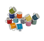 Colourful British Colour Standard BCS Espresso Coffee cups, Colour council dictionary. White Bone China