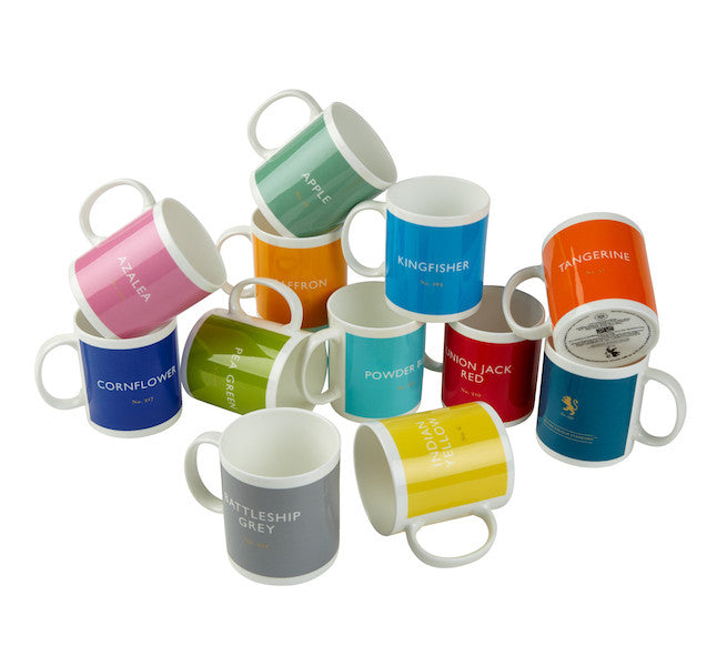 Colourful British Colour Standard full BCS colourful collection, White bone China Mugs