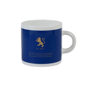 British Colour Standard BCS Cornflower Blue Espresso Coffee cup, White Bone China,