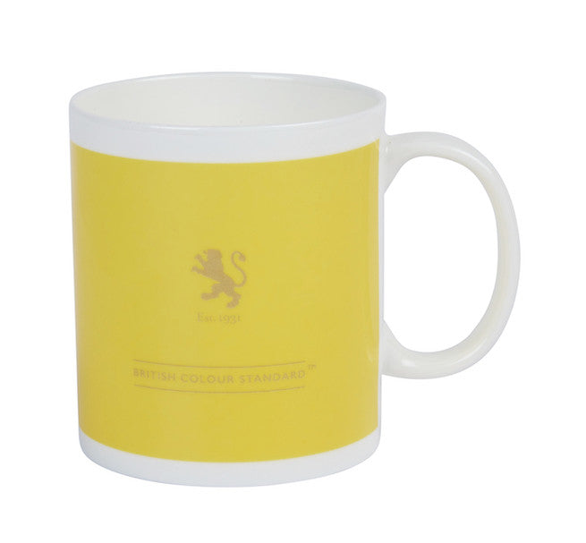British Colour Standard BCS Indian Yellow White Bone China Mug