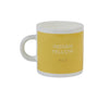 British Colour Standard BCS Indian Yellow Espresso Coffee cup, White Bone China,