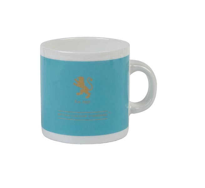 British Colour Standard BCS Powder Blue White Bone China Espresso Coffee Cup