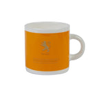 British Colour Standard BCS Saffron Yellow White Bone China Espresso Cup