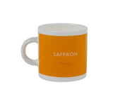 British Colour Standard BCS Saffron Yellow Espresso Coffee Cup, White Bone China