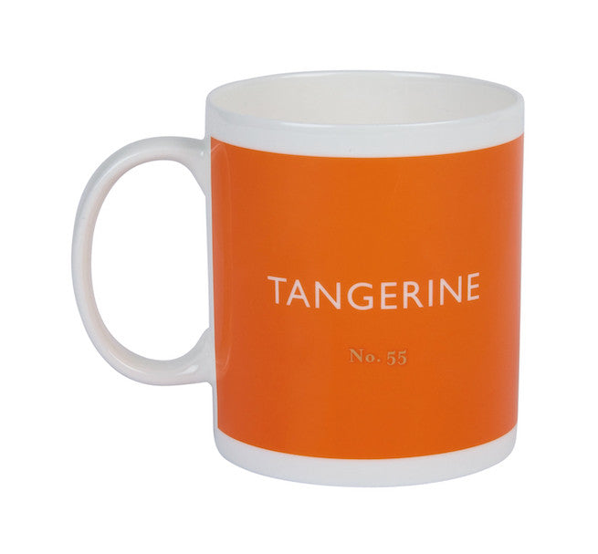 British Colour Standard BCS Tangerine Orange White Bone China Mug