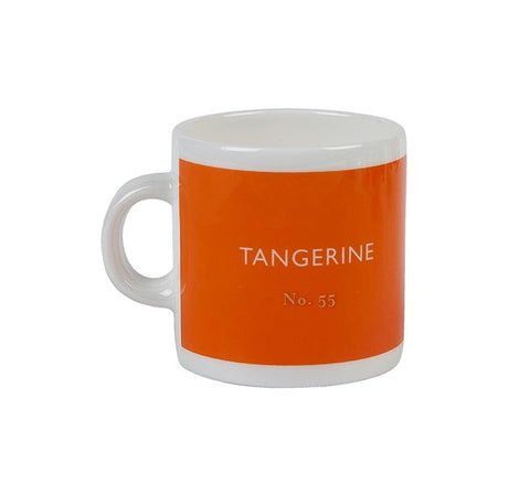 British Colour Standard BCS Tangerine Orange Espresso Coffee Cup white bone China