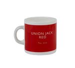 British Colour Standard BCS Union Jack Red Espresso Coffee Cup White bone China