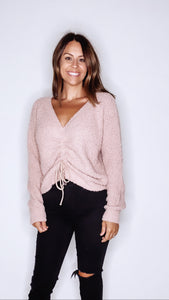 BLUSH HOLD ME CLOSE SWEATER