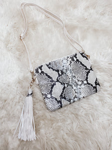 WILD ABOUT YOU SILVER CLUTCH