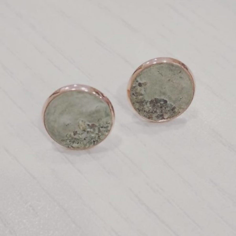 Rose gold cement and sand earrings