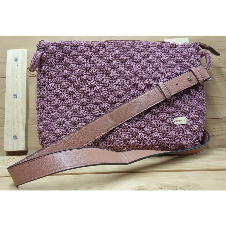 Handmade knitted shoulder bag