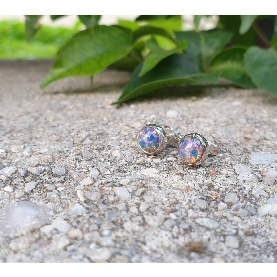"""Lollipop"" Sterling Silver 925 Stud Earrings"