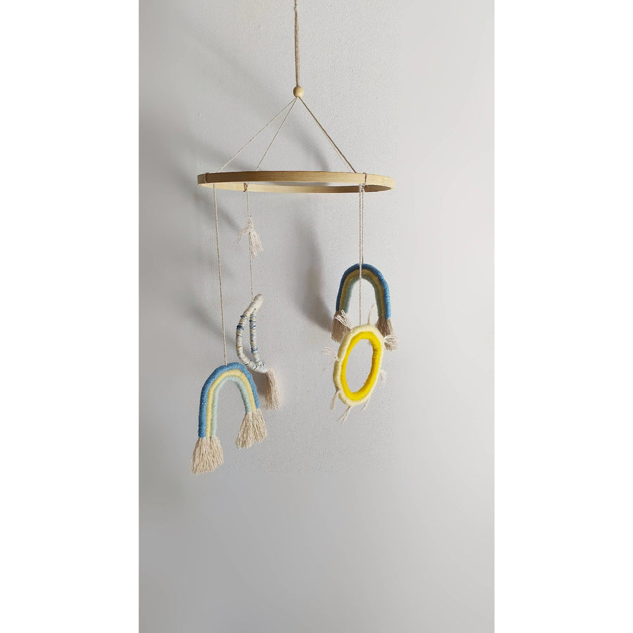 Rainbow Moon Sun nursery mobile