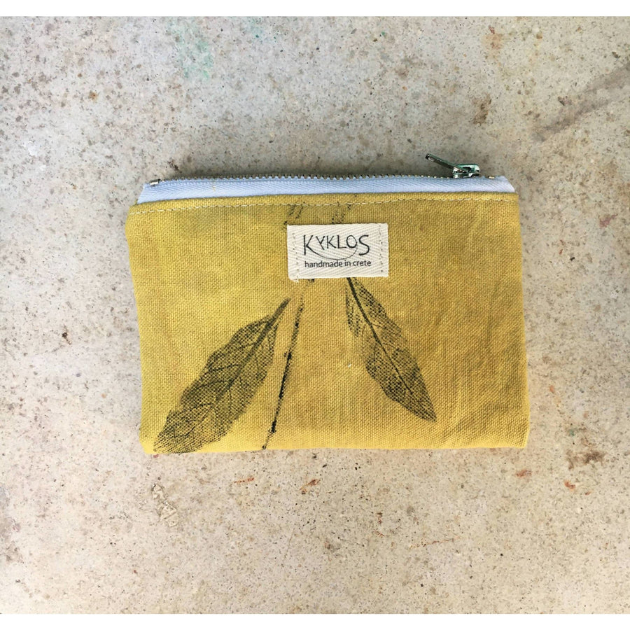 small wallet // zipper pouch/ naturally dyed//coin purse card holder