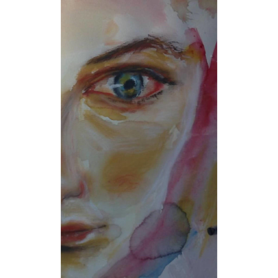 """Colorful Eyes"" watercolor on aquarelle paper"