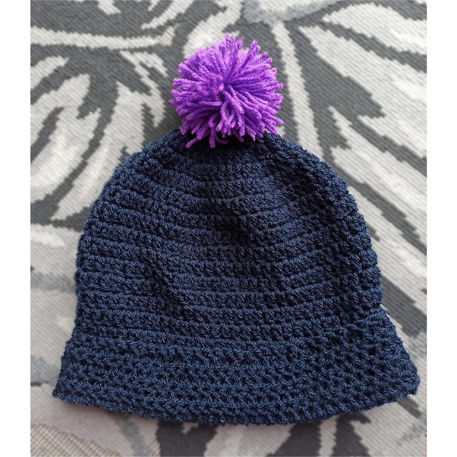 Beanie with Pom-Pom Top