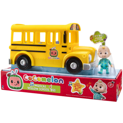 CoComelon Official Musical Yellow School Bus JJ Figure