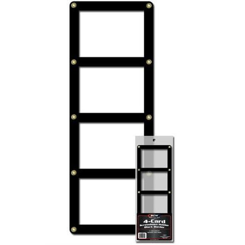 BCW 4-CARD SCREWDOWN HOLDER - BLACK BORDER