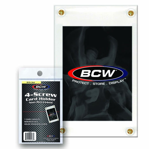 BCW 4-SCREW CARD HOLDER - NON RECESSED