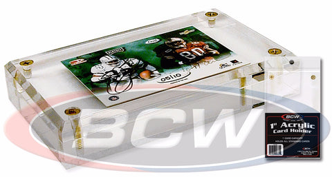 BCW 1 INCH ACRYLIC CARD HOLDER