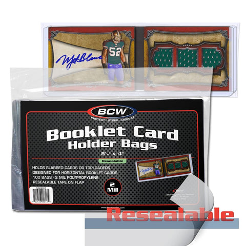 BCW BOOKLET CARD HOLDER - RESEALABLE BAGS