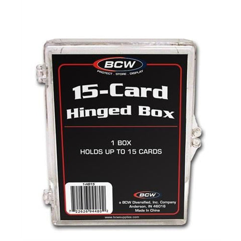 BCW HINGED BOX - 15 COUNT