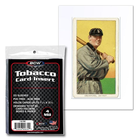 BCW INSERT SLEEVES - TOBACCO CARDS