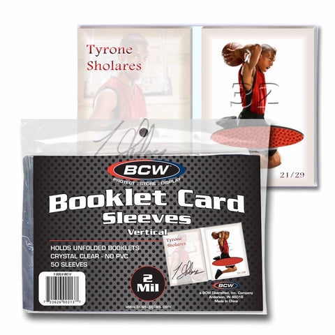 BCW BOOKLET CARD SLEEVES - 5 3/8 x 3 11/16