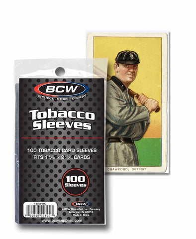 BCW TOBACCO CARD SLEEVES
