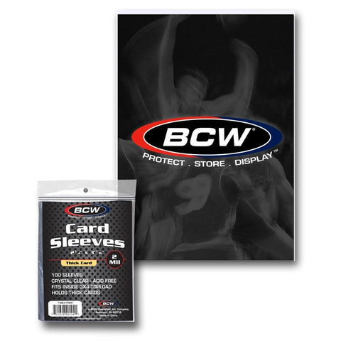 BCW THICK CARD SLEEVES - 2 3/4 X 3 3/4