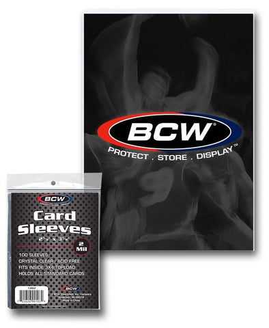 BCW CARD SLEEVES - 2 5/8 X 3 5/8