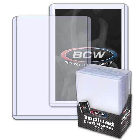 BCW TOPLOAD HOLDER - 3 X 4 - STANDARD