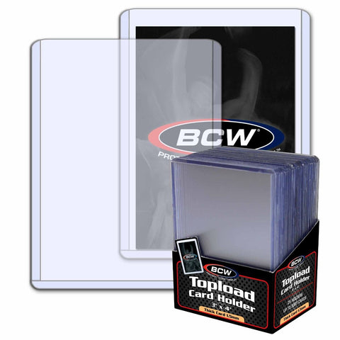 BCW TOPLOAD HOLDER - 3 X 4 X 1.5 MM - 59 PT. THICK CARD