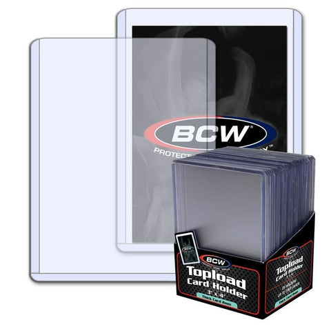 BCW TOPLOAD HOLDER - 3 X 4 X 2 MM - 79 PT. THICK CARD