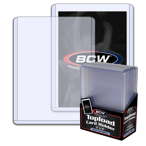 BCW TOPLOAD HOLDER - 3 X 4 X 3.5 MM - 138 PT. THICK CARD