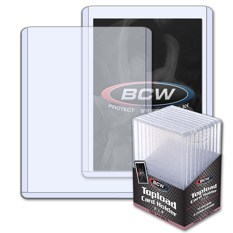 BCW TOPLOAD HOLDER - 3 X 4 X 4.25 MM - 168 PT. THICK CARD