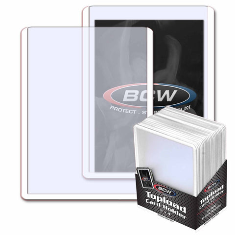 BCW TOPLOAD HOLDER - 3 X 4 - WHITE BORDER